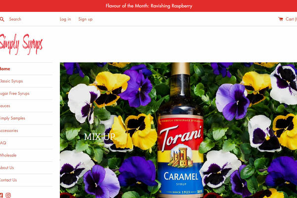 Simply Syrups - Home Page